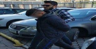 Evden hırsızlık şüphelisi tutuklandı