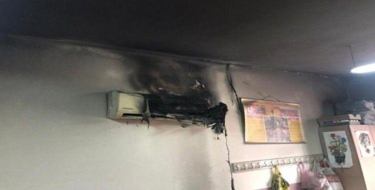 Yangında zarar gören sınıf belediye tarafından yenilendi