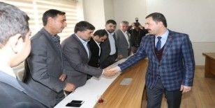 Karaköprü Belediyespor yönetiminden Baydilli'ye ziyaret