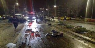 1 kişinin öldüğü, 3 kişinin yaralandığı korkunç kaza güvenlik kamerasında