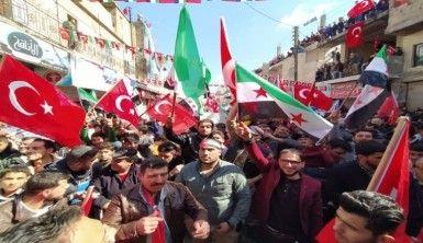 Azez halkından Türkiye'ye destek gösterisi