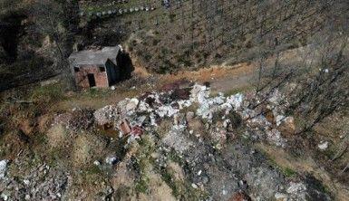 Şile'deki çevre katliamı havadan görüntülendi