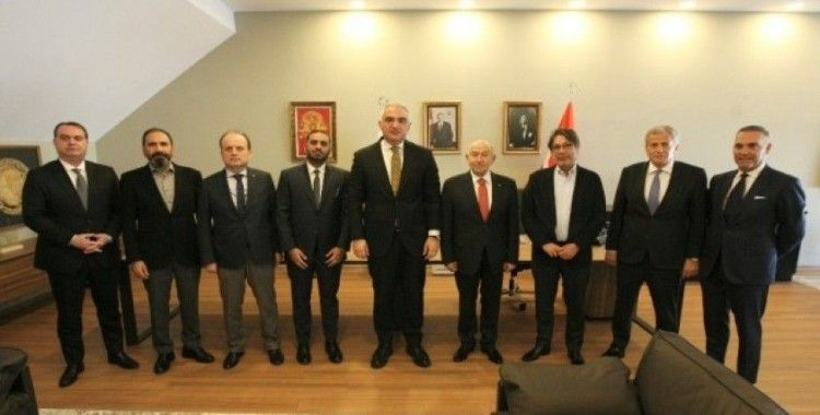 TFF'den Kültür ve Turizm Bakanı Mehmet Nuri Ersoy'a ziyaret