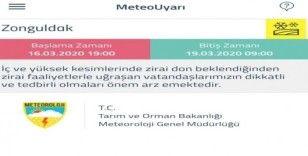 Meteorolojiden Zonguldak için sarı uyarı