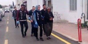 Torbacı kadın tutuklandı