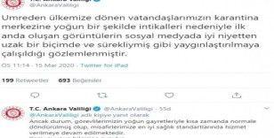 Ankara Valiliğinden yurttaki gözlem görüntüleri hakkında açıklama