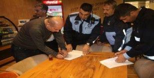 Elazığ'da ekipler, korona virüsüne karşı işletmeleri bilgilendirdi