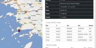 Bodrum açıklarında 4.1 büyüklüğünde deprem