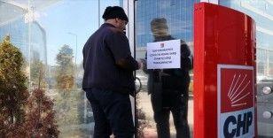 CHP Genel Merkezine ziyaretçi kabul edilmiyor