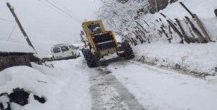 Giresun'da kar nedeniyle kapalı köy yolları açılıyor