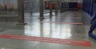 Sabiha Gökçen Havalimanı'nda  'kırmızı çizgi' uygulaması