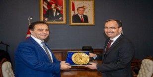 Başkan Şahin'den Rektör Beydemir'e tebrik ziyareti