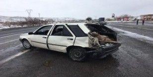 İncesu'da otomobiller çarpıştı: 1 yaralı