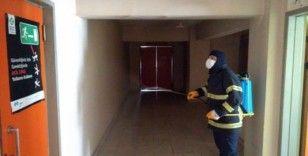 İtfaiye Müdürlüğü dezenfekte edildi