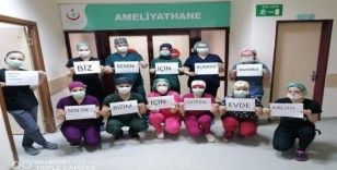Sağlık çalışanlarından 'Evde kal' mesajı