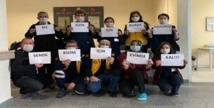 Emet Devlet Hastanesi personeli Korana virüs mesajı verdi