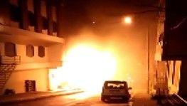 Beylikdüzü'nde otel alev alev yandı
