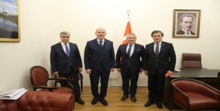 Vali Gürel ve milletvekilleri Bakan Soylu ile görüştü