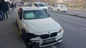 Kağıthane'de 5 aracın karıştığı zincirleme kaza