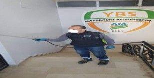 Yeşilyurt Belediyespor'da korona virüs önlemleri