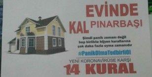 Uzunluoğlu'ndan Pınarbaşılılara 'Evde kal' çağrısı