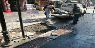 Gaziantep caddesinde kaldırımlar düzenlendi