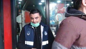 Beyoğlu'nda lokanta ve iş yerlerine koronavirüs denetimi