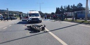 Alanya'da motosikletin çarptığı bisikletli öldü