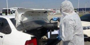 Tekirdağ'da araçlara ücretsiz Korona virüs temizliği