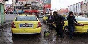 Taksicilerden Korona virüs önlemleri