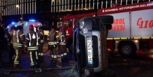 Otomobile çarpmamak için manevra yapan araç devrildi: 1 yaralı