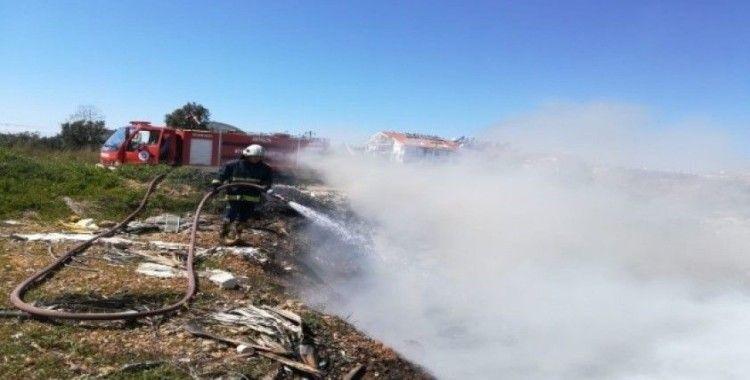 Manavgat'ta çöplük alanda yangın