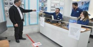 Yüksekova'da korona virüsüne karşı tedbir