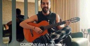 Genç şarkıcıdan 'Önlem Al, Evde Kal' bestesi