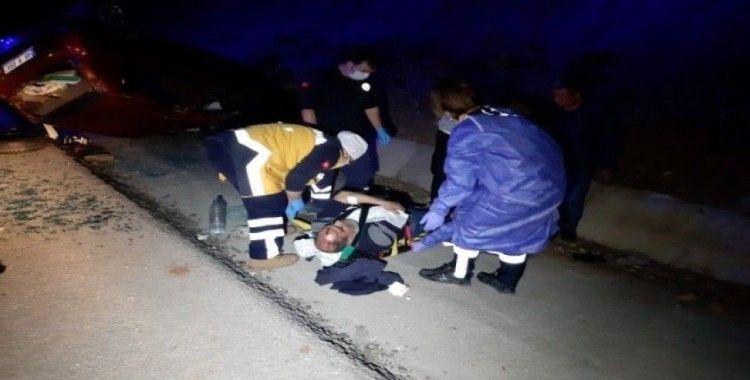 Fethiye'de köpeğe çarpan otomobil devrildi; 6 yaralı