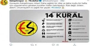 Eskişehirspor'dan 'evde kal' çağrısı