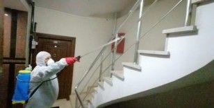 Eyüpsultan'daki apartmanlar tek tek dezenfekte edildi