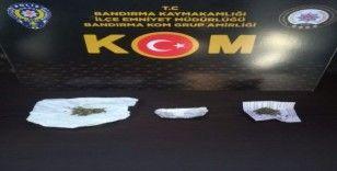 Balıkesir polisinden uyuşturucu operasyonu