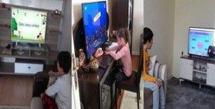 Uzaktan eğitimde öğrenciler televizyon başına geçti