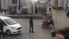 Karantinadan kaçan kadın Taksim meydanında yakalandı