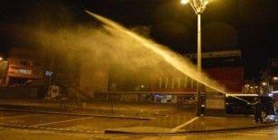 Havza'da cadde ve sokaklar dezenfekte ediliyor