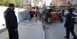 Birecik'te kentin her noktası dezenfekte ediliyor