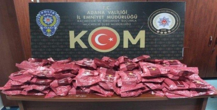 Adana'da 128 kilo kaçak nargile tütünü ele geçirildi