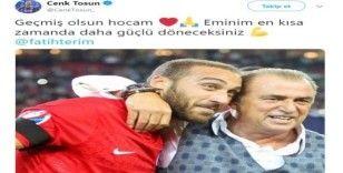 Cenk Tosun'dan Fatih Terim'e geçmiş olsun mesajı