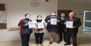 Sağlık çalışanlarından alkışlı desteğe teşekkür