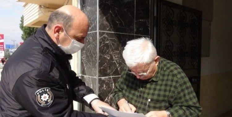 Evde kalan gurbetçi yaşlılara polis desteği