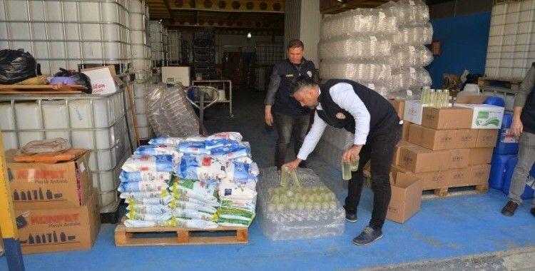 Adana'da 625 litre sahte kolonya ele geçirildi