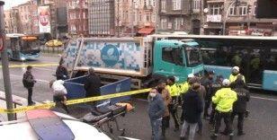 (Özel) İstanbul'un göbeğinde talihsiz gencin feci ölümü kamerada