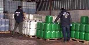 Arnavutköy'de izinsiz dezenfektan üretimi yapılan imalathaneye operasyon