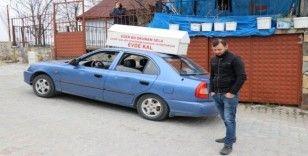 Bolu'da, aracına bağladığı tabutla 'evde kal' çağrısı yapan sürücüye ceza